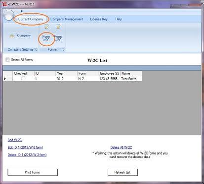 ezW2Correction - W-2c & W-3c software