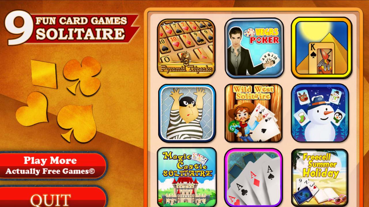 9 Fun Card Games - Solitaire