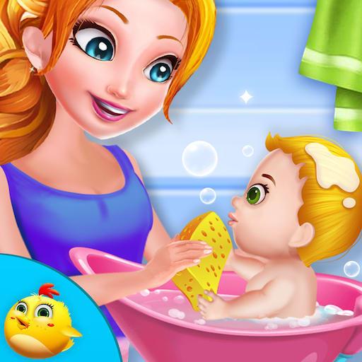 Sweet Baby Girls Super Mom
