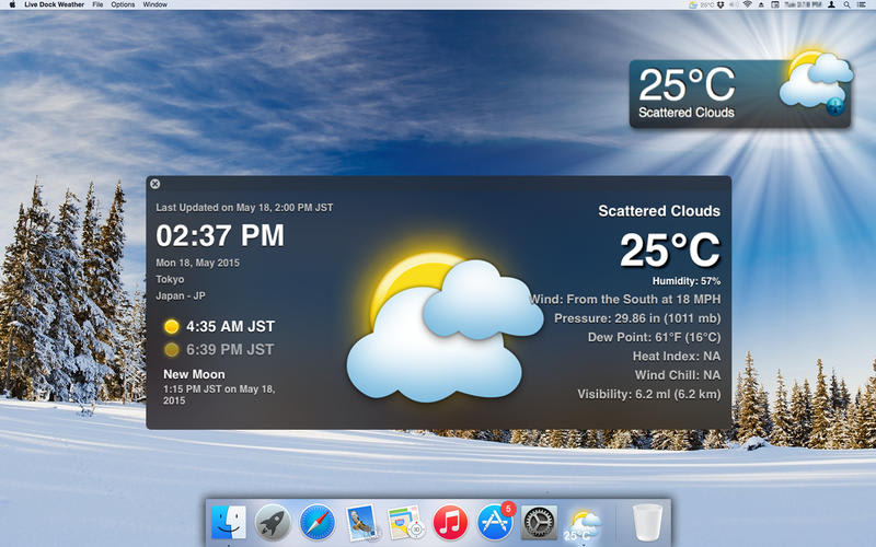 Live Dock Weather