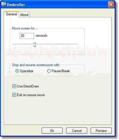 Deskroller Screensaver