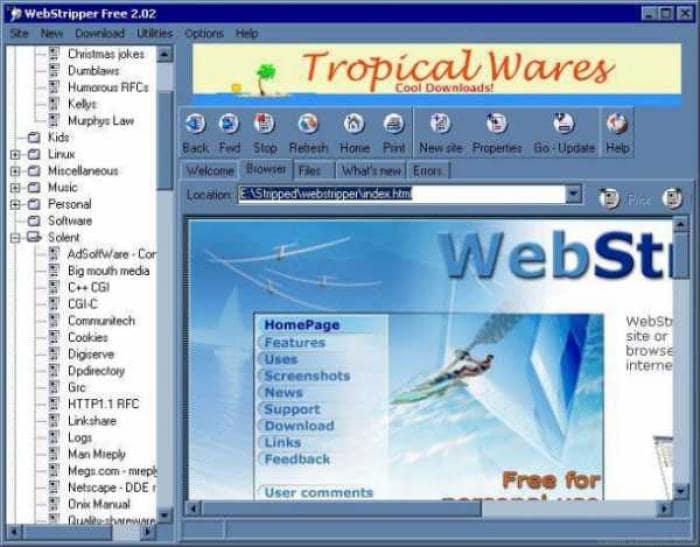 WebStripper