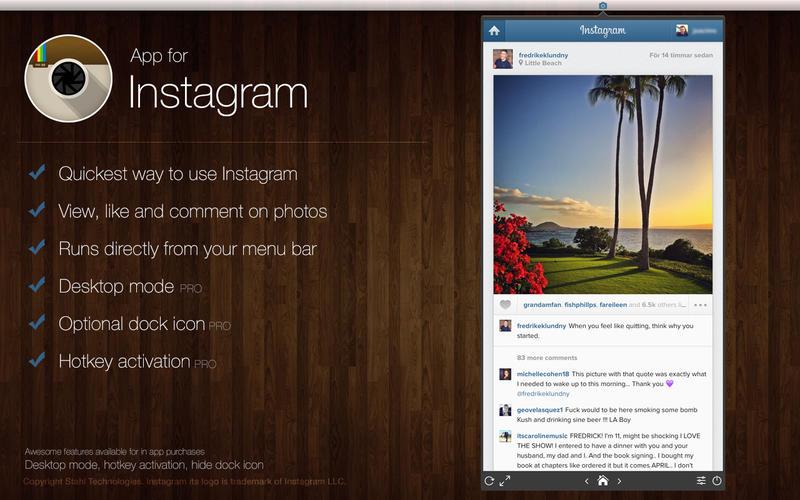 App for Instagram - Instant at your desktop