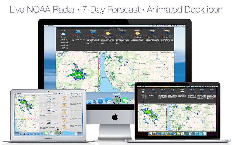 Radar Live: NOAA doppler radar loop and weather forecast