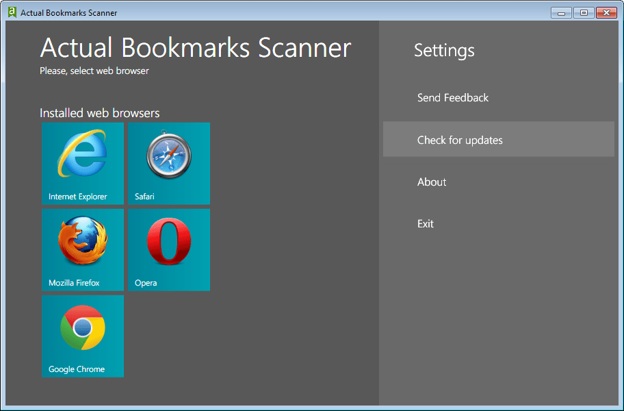 Actual Bookmarks Scanner