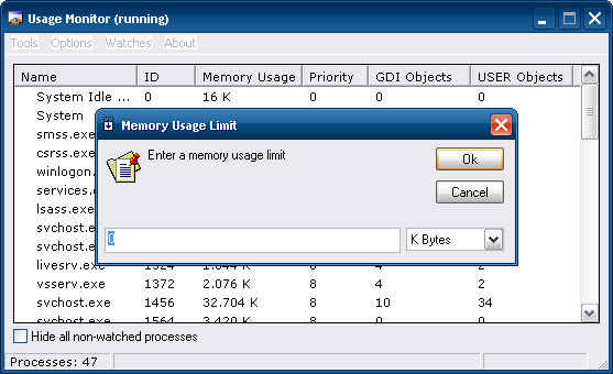Usage Monitor
