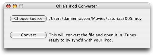 Ollie's iPod Converter