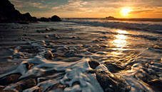 Beach sunsets Windows themes