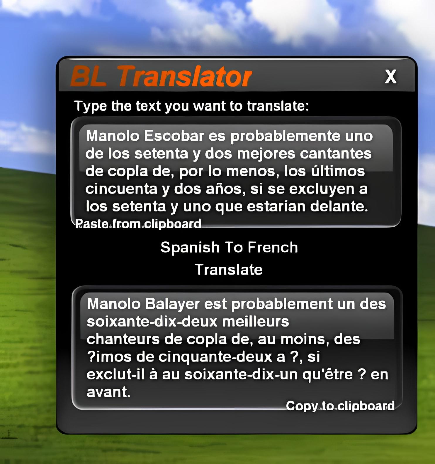 BL Translator Widget