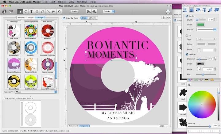 Mac CD DVD Label Maker