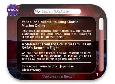 NASA Widget