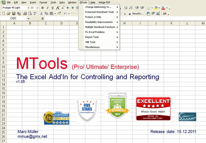 MTools Ultimate Excel AddIn