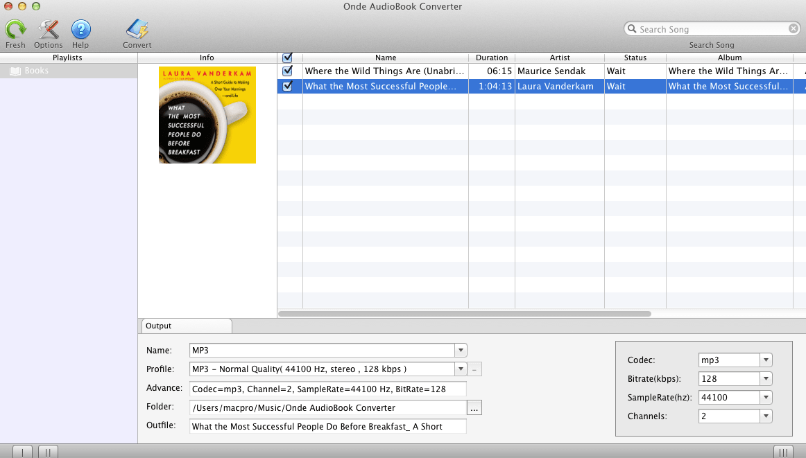 Onde AudioBook Converter for Mac