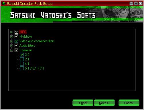 Satsuki Decoder Pack