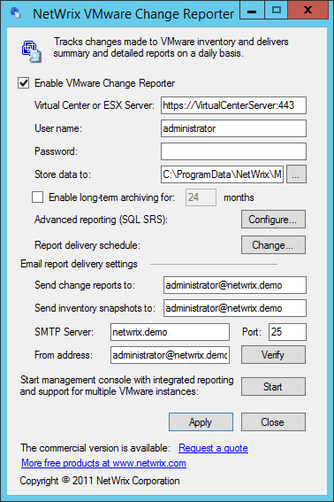 Netwrix Change Notifier for VMware