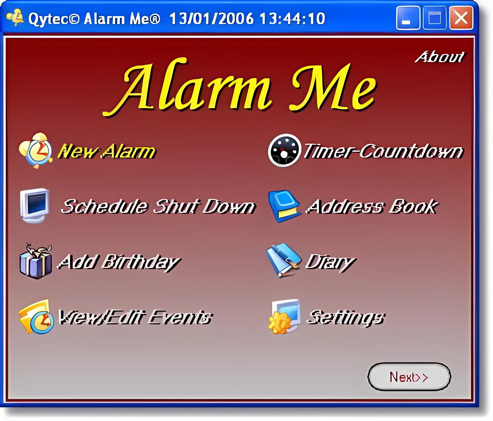 Alarm me