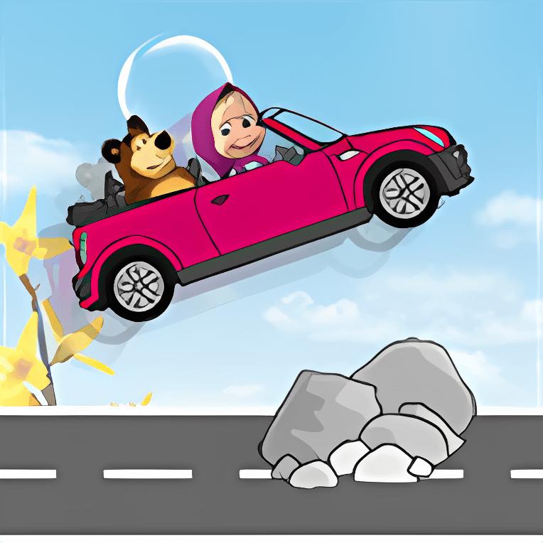 Masha e l'Orso Crazy Car