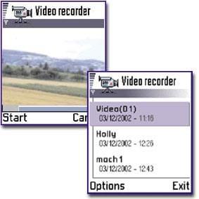 Nokia 7650 Video recorder