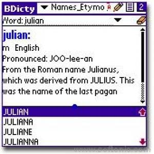 Etymology of Names Dictionary