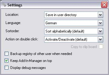 Add-In-Manager