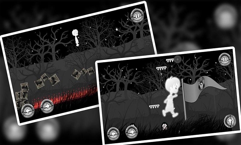 A Boy's Escape : Lost in the Haunted Dark Black Fo