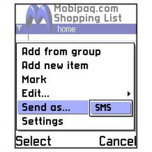 Mobipaq Shopping List