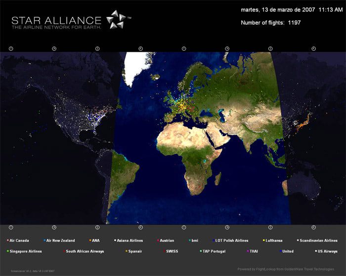 Star Alliance Screen Saver
