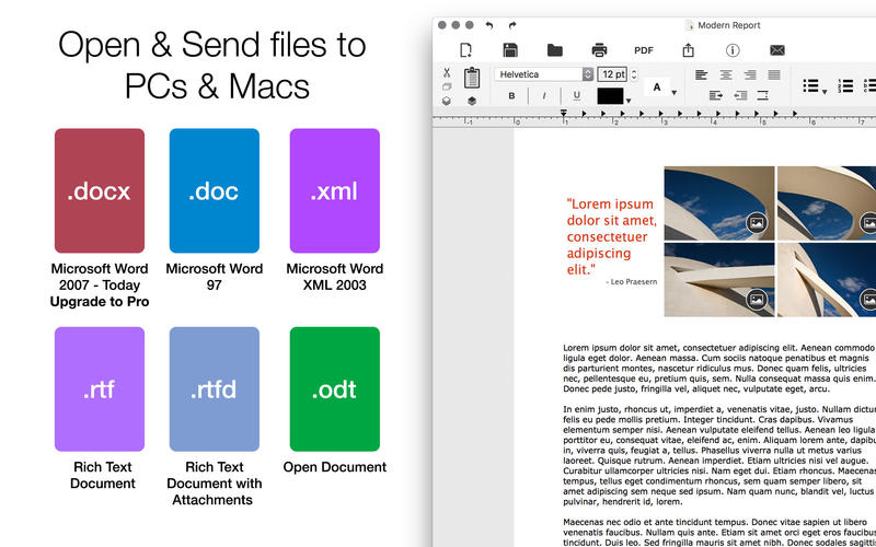 Word Document Writer for Microsoft Word Processor
