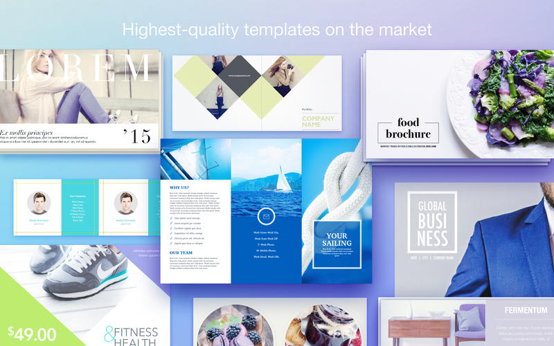 Templates for Pages - resumes, brochures, posters
