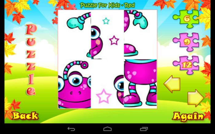 123 Kids Fun PUZZLE RED