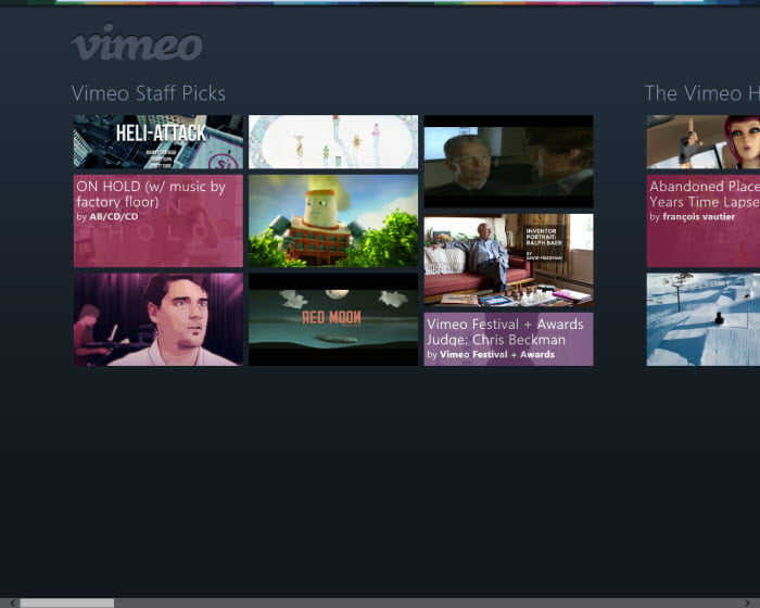Vimeo for Windows 10