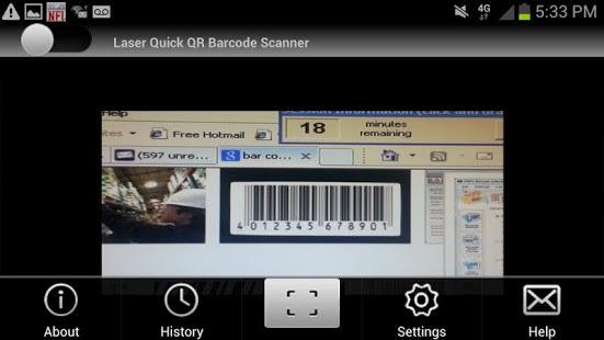 QR Barcode Reader Laser Quick