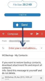 MCBackup - My Contacts Backup