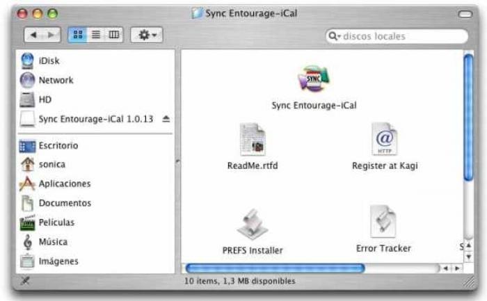 Sync Entourage-iCal