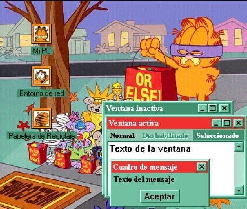 Garfield Does Halloween Desktop Theme