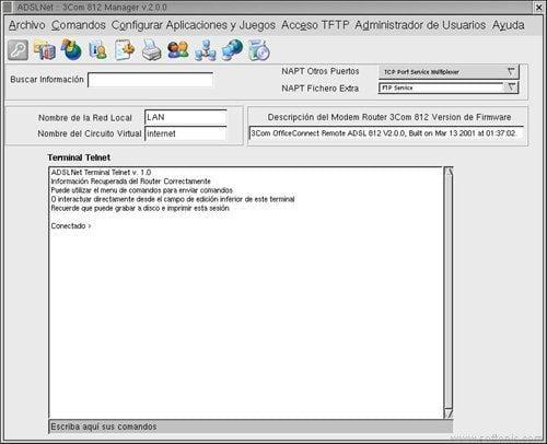 ADSLNet 3Com 812 Manager