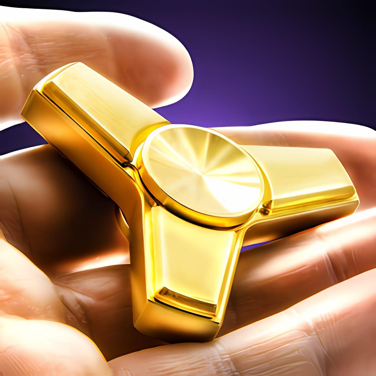 Golden fidget hand spinner 1.0
