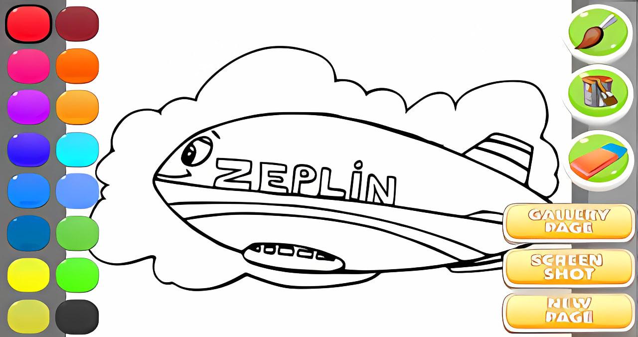 Zeppelin Coloring Book