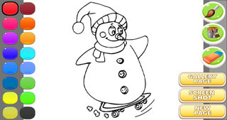 Snowman Game : Coloring Book