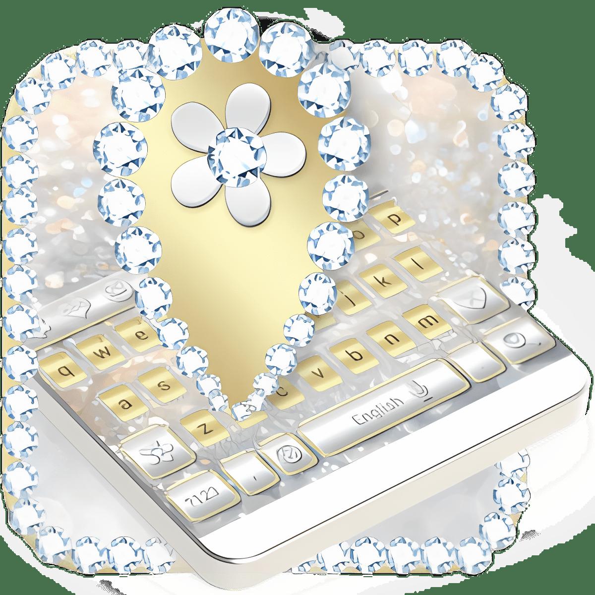 Luxury Gold & Silver Keyboard 10001