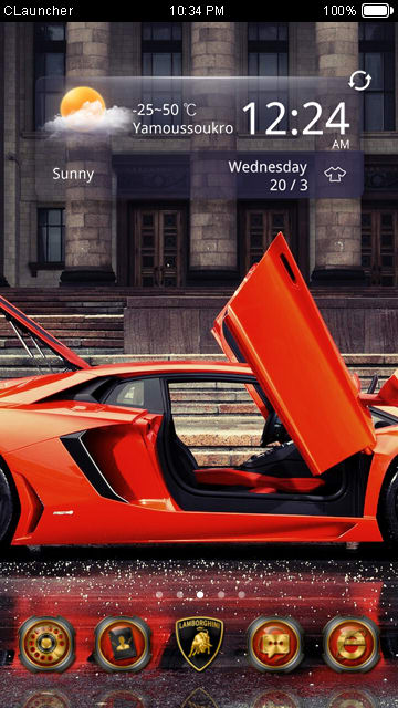 LAMBORGHINI CARS CLauncher Theme