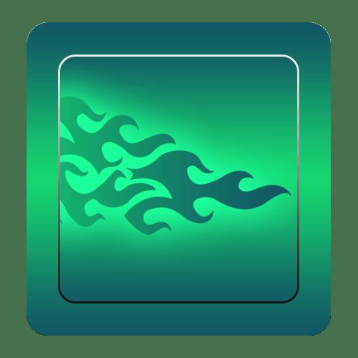 GO Keyboard Green Flame