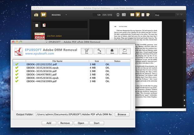 Mac Adobe PDF ePub DRM Removal