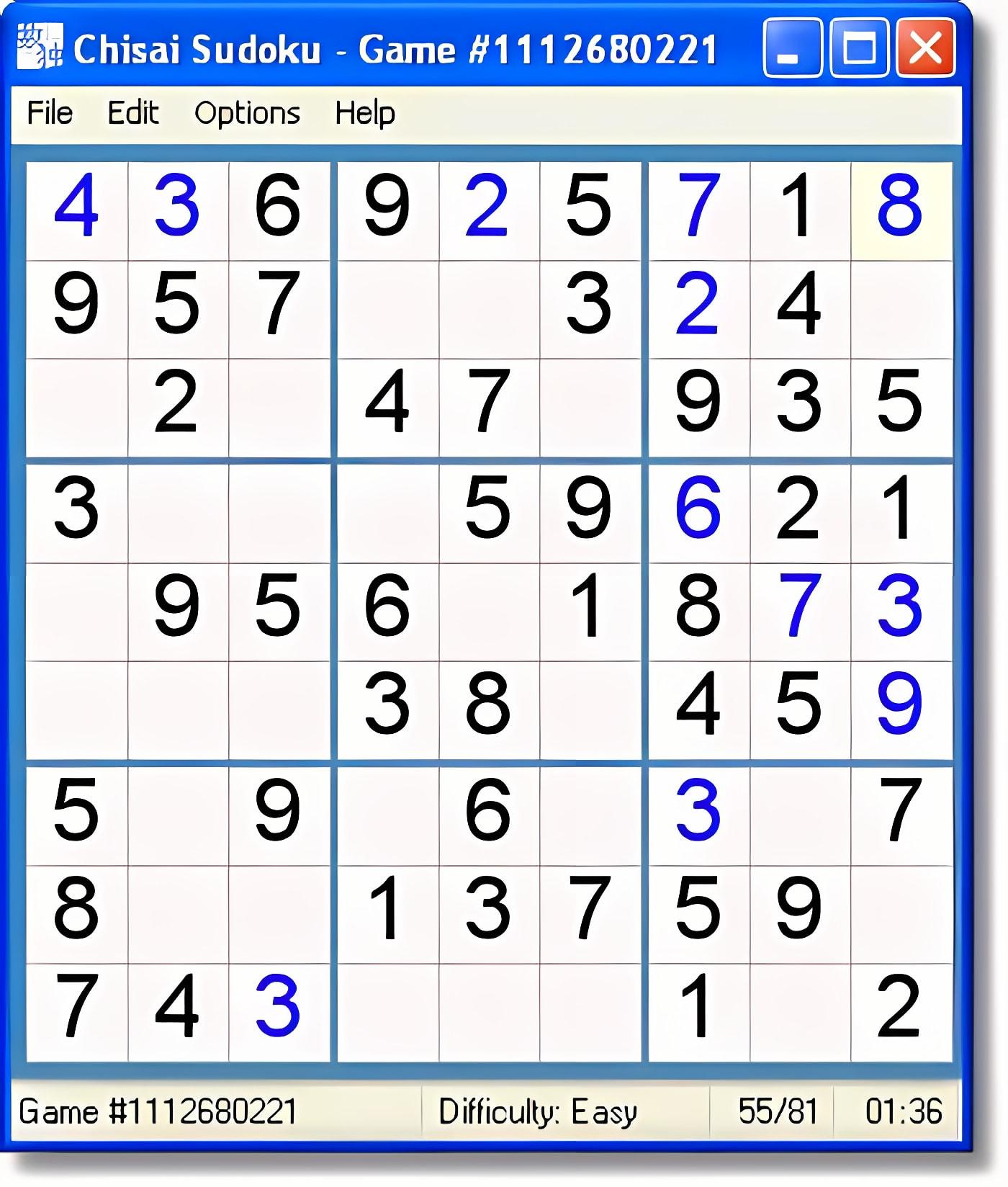 Chisai Sudoku