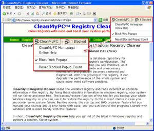 CleanMyPC Popup Blocker