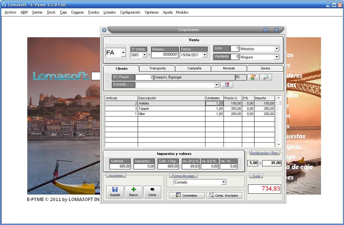 Software E-Pyme 4 Base