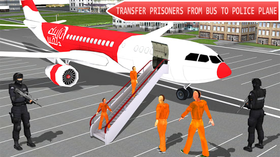 Jail Criminals Airplane Flight