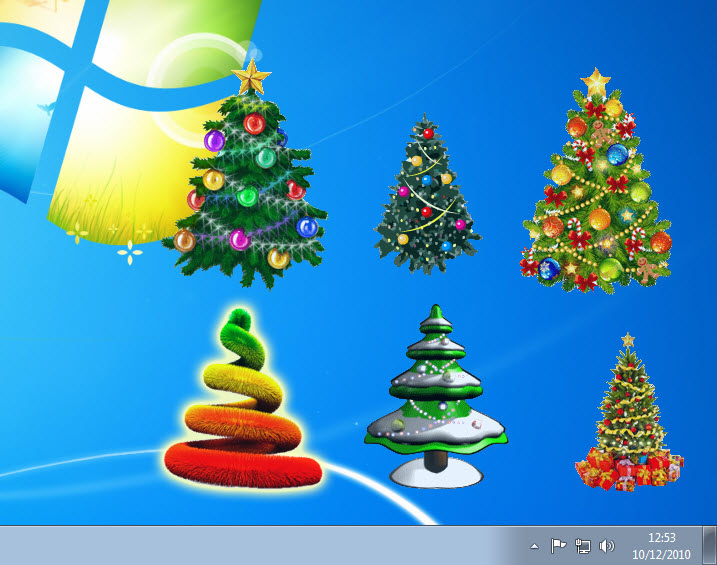 Desktop Christmas Trees Collection