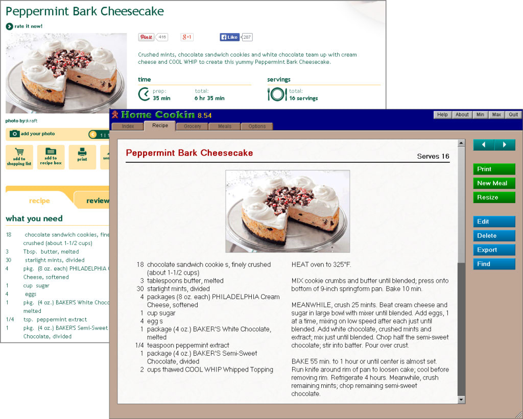 Home Cookin Recipe Software