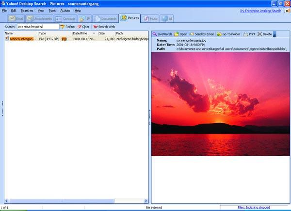 Yahoo! Desktop Search